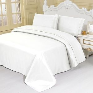 Other - TWIN Size WHITE 3 Pieces SHEET SETS